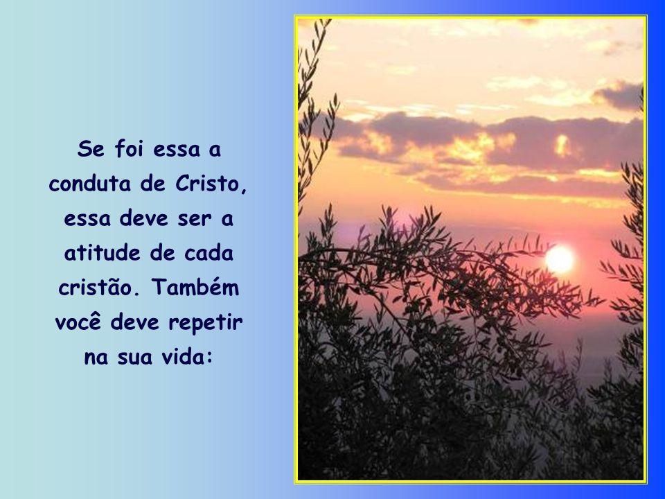 Mas Cristo não esperou esse dia para adequar a sua vontade à vontade de Deus. Ele fez isso durante toda a vida.