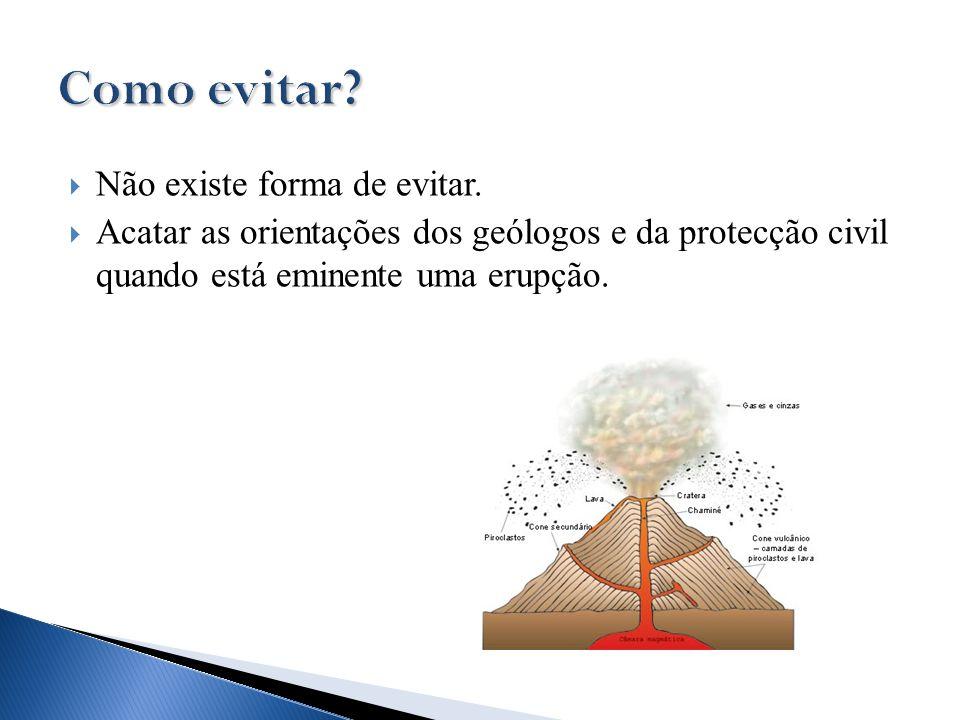  Não existe forma de evitar.  Acatar as orientações dos geólogos e da protecção civil quando está eminente uma erupção.