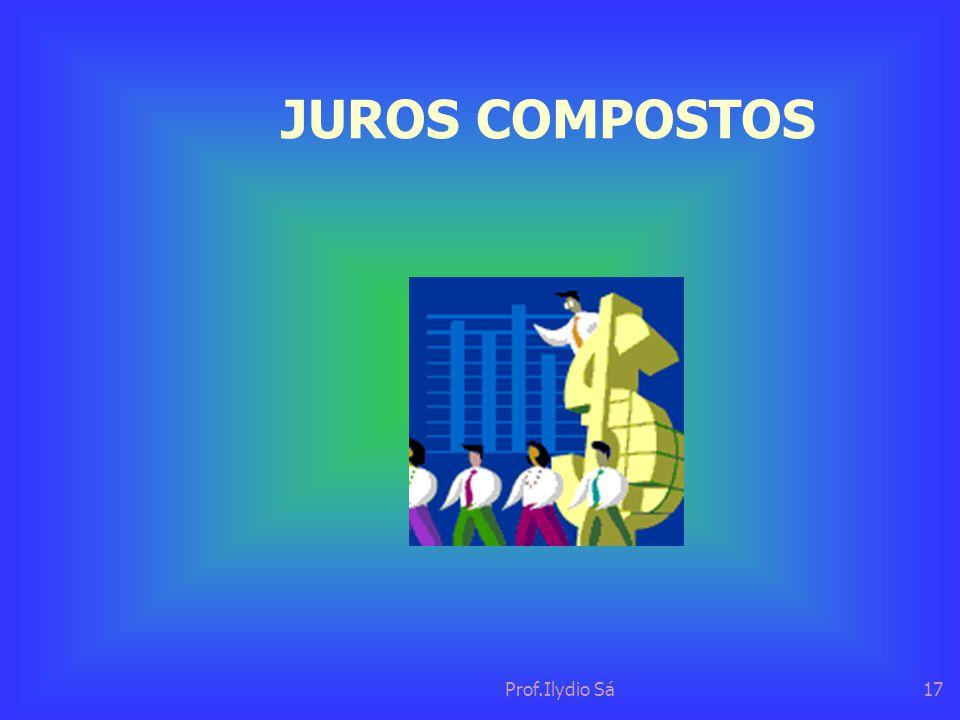 Prof.Ilydio Sá17 JUROS COMPOSTOS