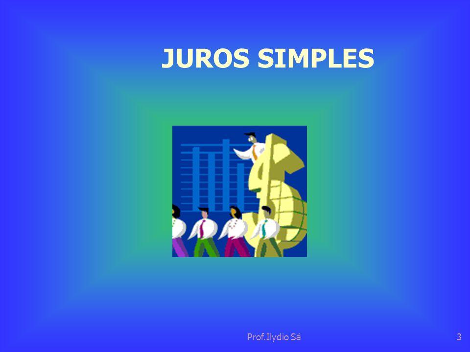 Prof.Ilydio Sá3 JUROS SIMPLES