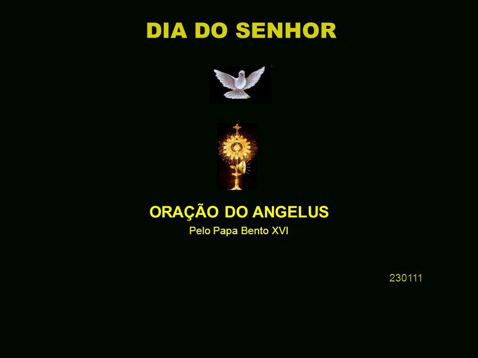 † ORAÇÃO DO ANGELUS Pelo Papa Bento XVI 230111 DIA DO SENHOR