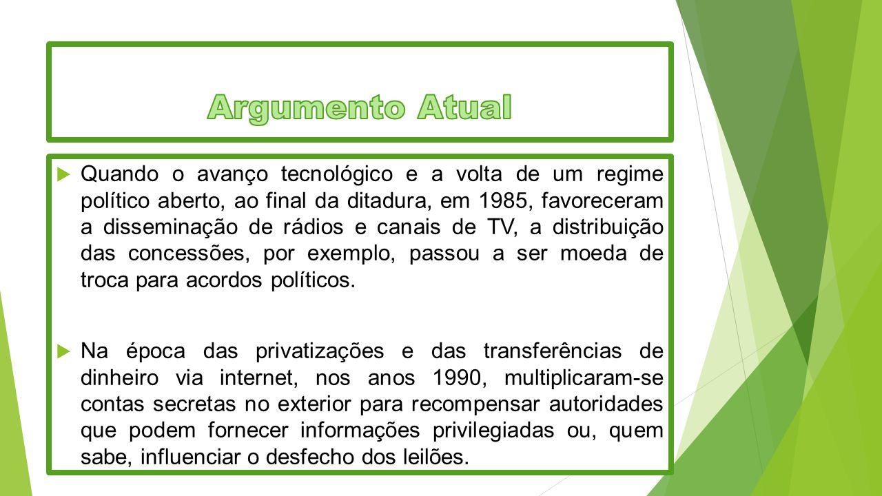  Quando o avanço tecnológico e a volta de um regime político aberto, ao final da ditadura, em 1985, favoreceram a disseminação de rádios e canais de