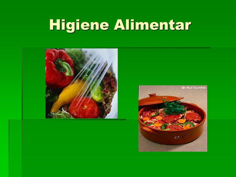 Conteúdo da apresentação  O que é a higiene alimentar.