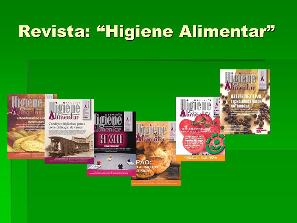 Revista: Higiene Alimentar