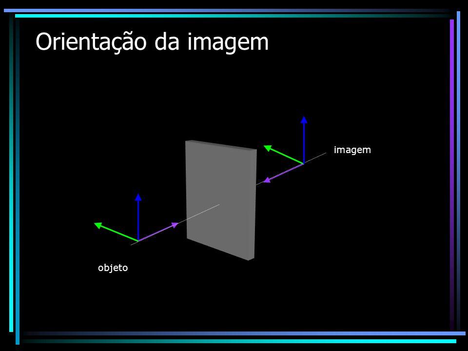 Orientação da imagem objeto imagem