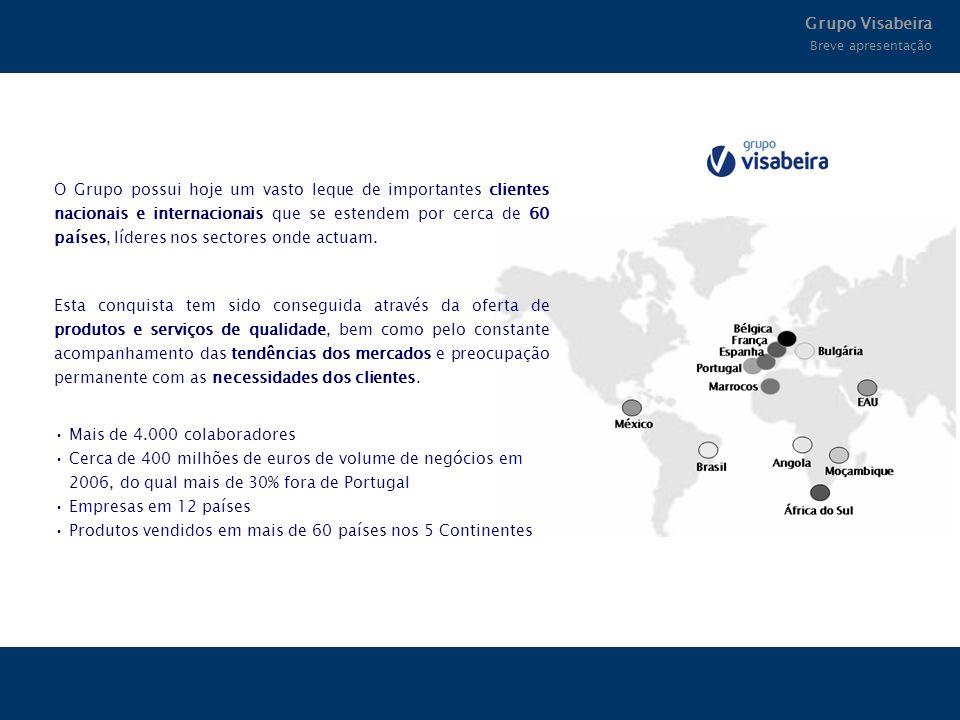 O Grupo possui hoje um vasto leque de importantes clientes nacionais e internacionais que se estendem por cerca de 60 países, líderes nos sectores ond