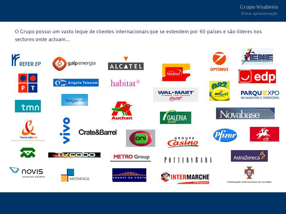 O Grupo possui um vasto leque de clientes internacionais que se estendem por 60 países e são líderes nos sectores onde actuam... Grupo Visabeira Breve