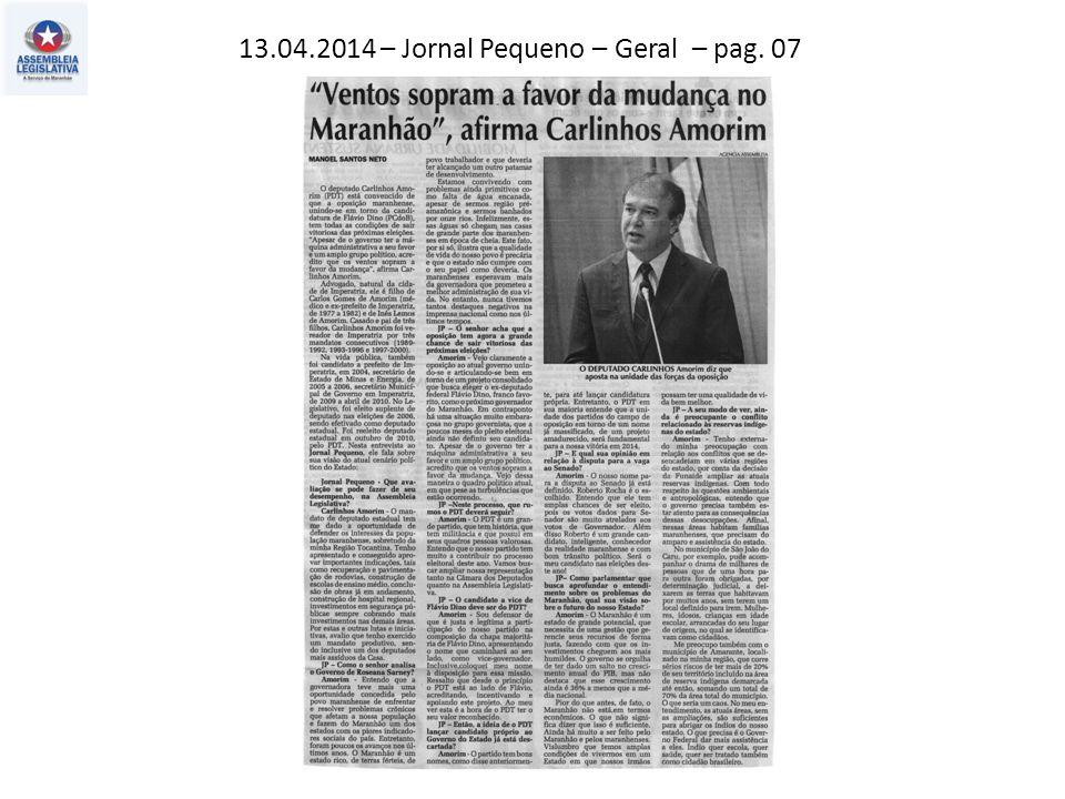 13.04.2014 – Jornal Pequeno – Coluna do Peta – pag. 02