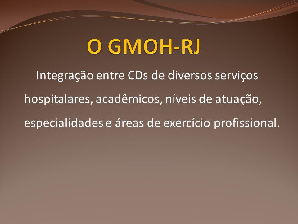 Integração entre CDs de diversos serviços hospitalares, acadêmicos, níveis de atuação, especialidades e áreas de exercício profissional.