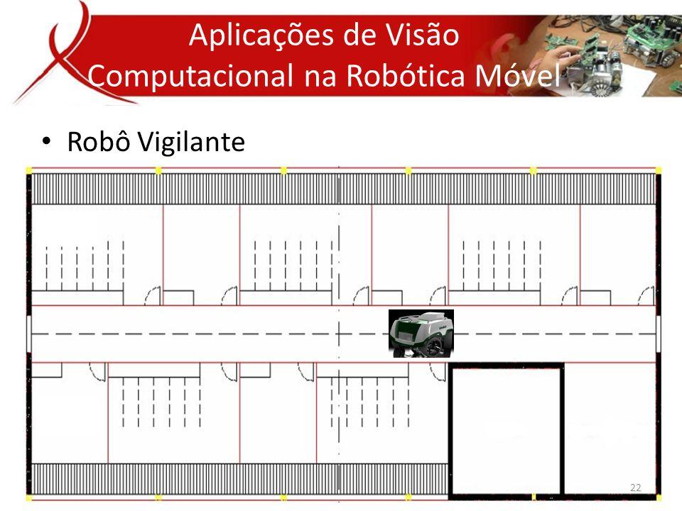• Robô Vigilante Aplicativos de Visão Computacional Aplicações de Visão Computacional na Robótica Móvel 22