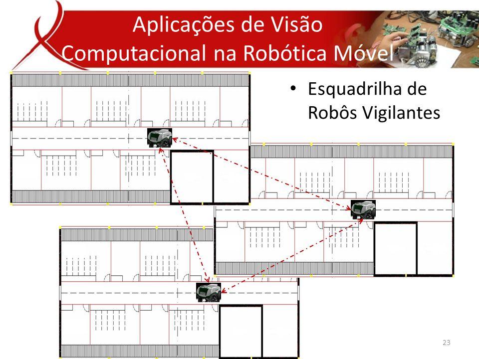 • Esquadrilha de Robôs Vigilantes Aplicativos de Visão Computacional Aplicações de Visão Computacional na Robótica Móvel 23