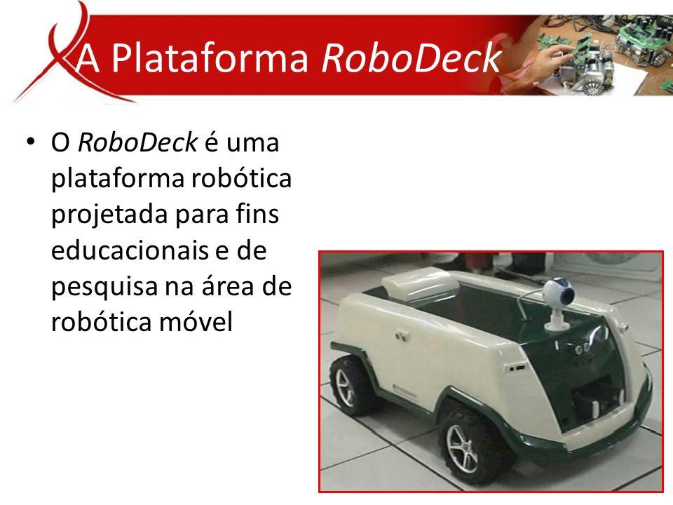 • O RoboDeck é uma plataforma robótica projetada para fins educacionais e de pesquisa na área de robótica móvel A Plataforma RoboDeck