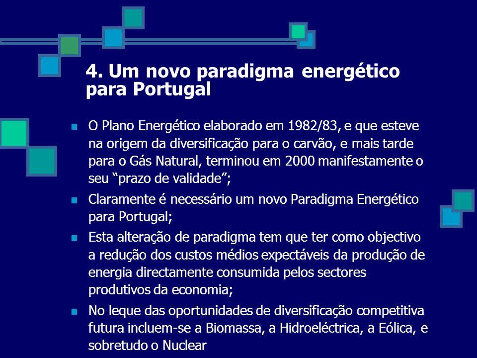  O Plano Energético elaborado em 1982/83, e que esteve na origem da diversificação para o carvão, e mais tarde para o Gás Natural, terminou em 2000 m