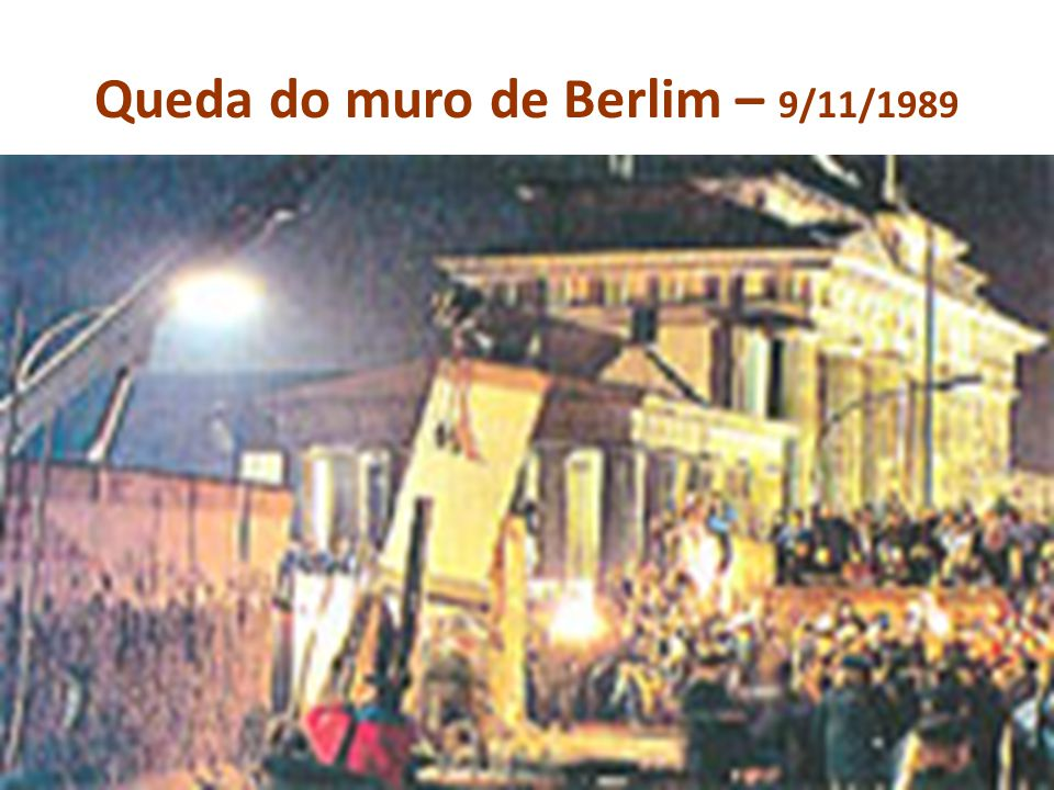 Queda do muro de Berlim – 9/11/1989