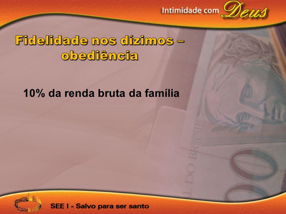 10% da renda bruta da família