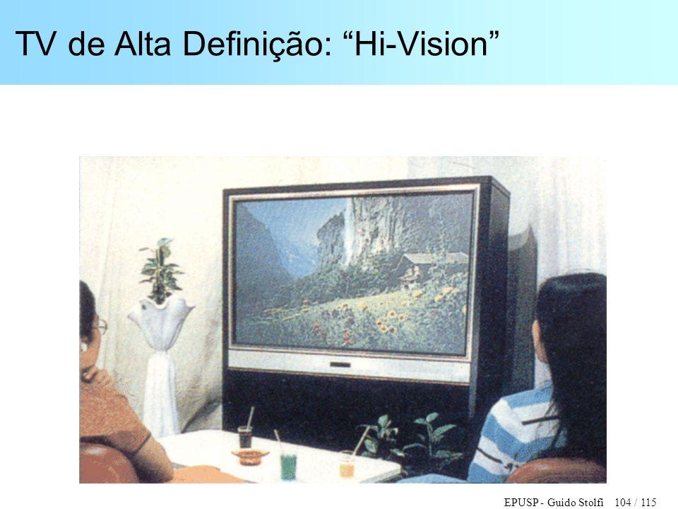 """EPUSP - Guido Stolfi 104 / 115 TV de Alta Definição: """"Hi-Vision"""""""