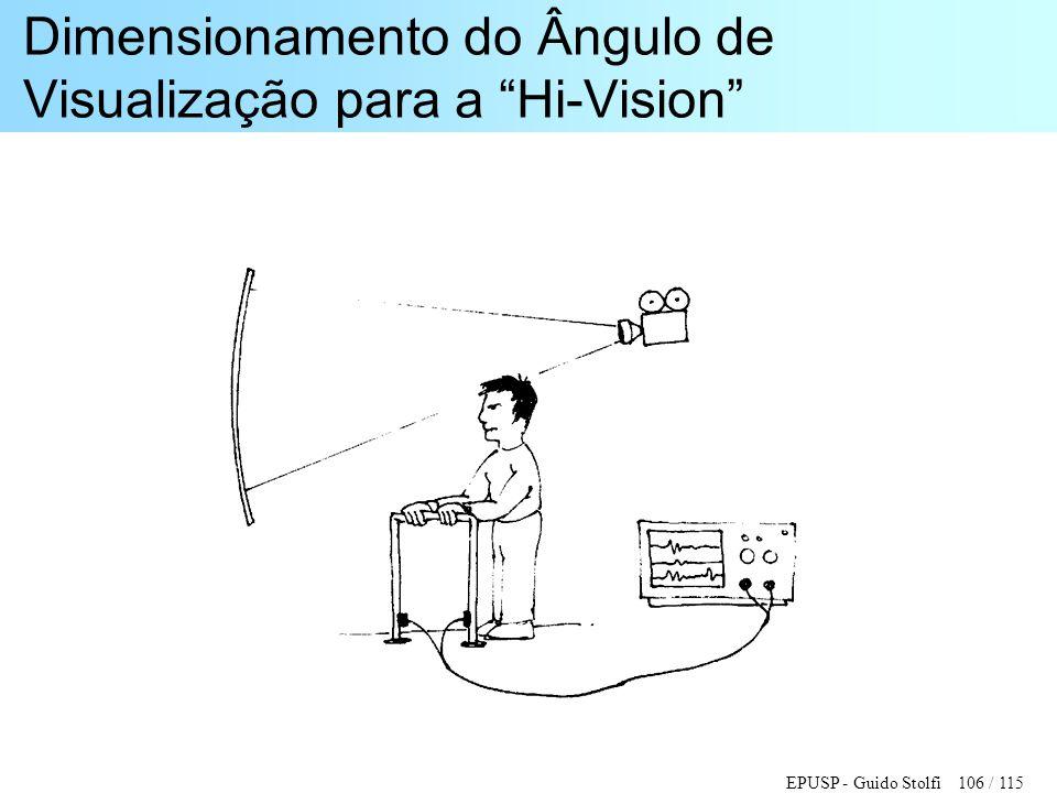 """EPUSP - Guido Stolfi 106 / 115 Dimensionamento do Ângulo de Visualização para a """"Hi-Vision"""""""