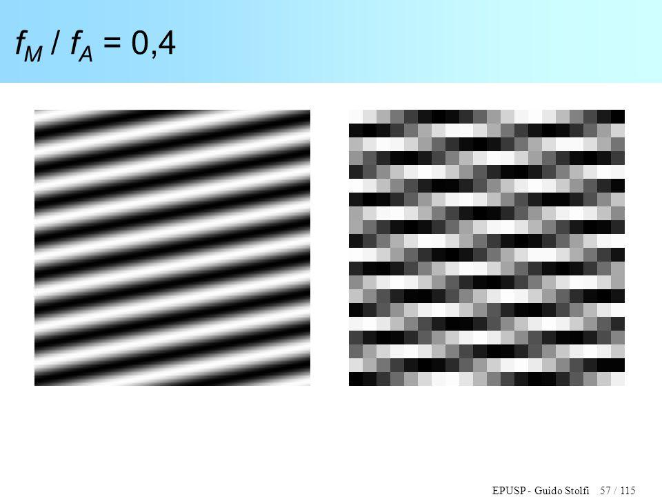 EPUSP - Guido Stolfi 57 / 115 f M / f A = 0,4