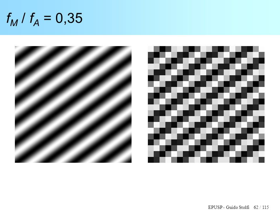 EPUSP - Guido Stolfi 62 / 115 f M / f A = 0,35