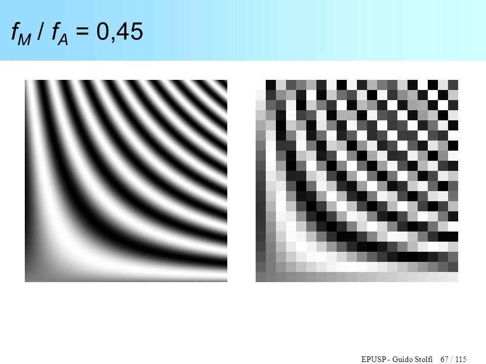 EPUSP - Guido Stolfi 67 / 115 f M / f A = 0,45