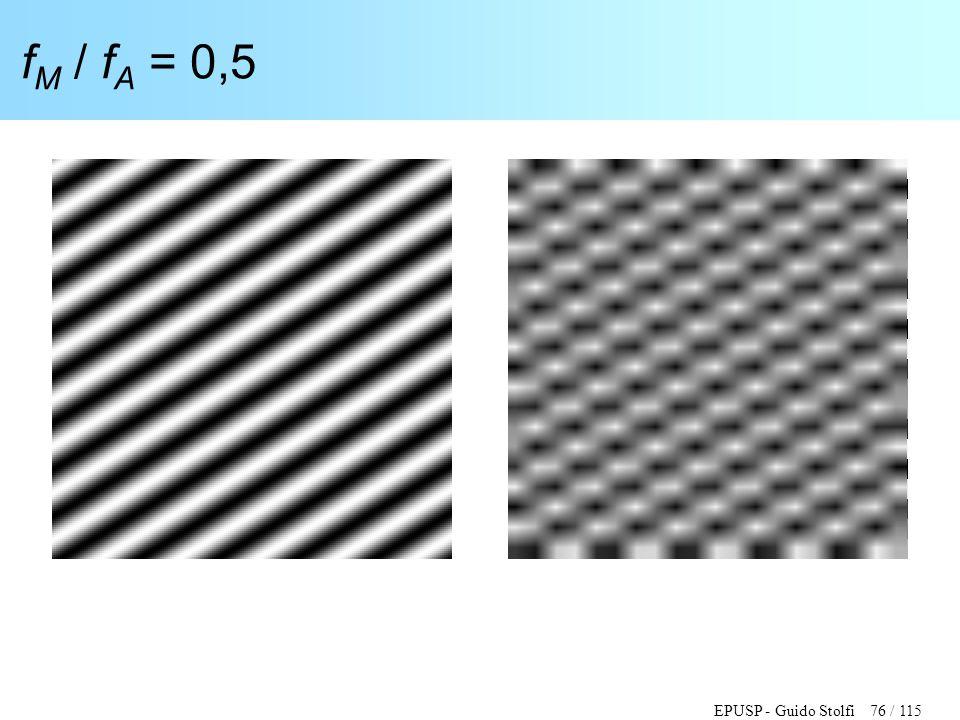 EPUSP - Guido Stolfi 76 / 115 f M / f A = 0,5