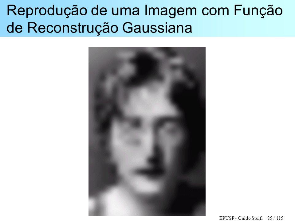 EPUSP - Guido Stolfi 85 / 115 Reprodução de uma Imagem com Função de Reconstrução Gaussiana