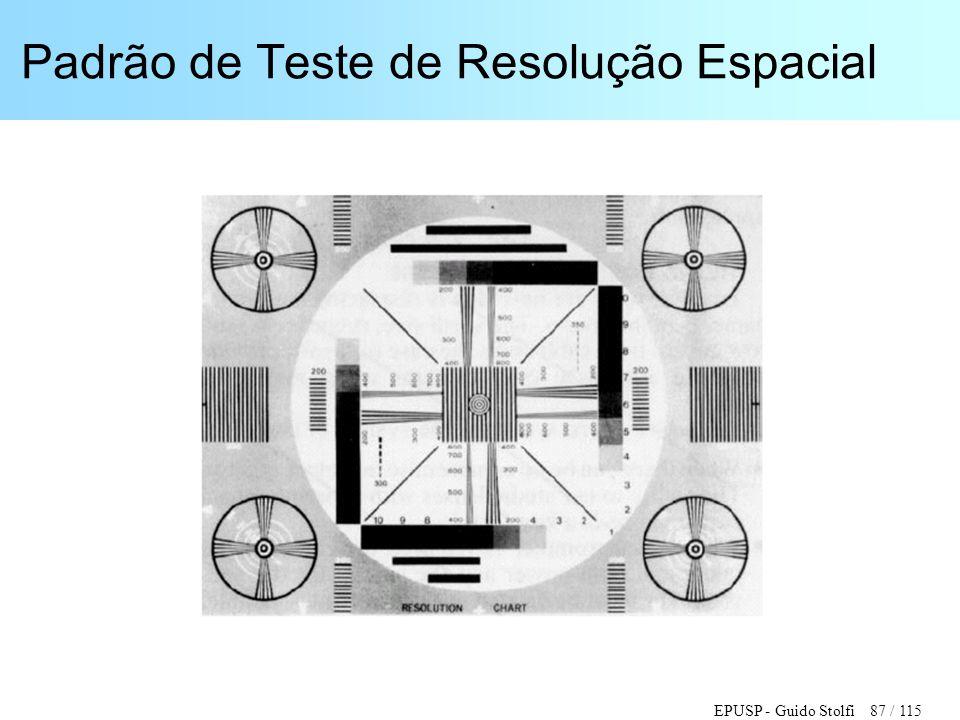 EPUSP - Guido Stolfi 87 / 115 Padrão de Teste de Resolução Espacial