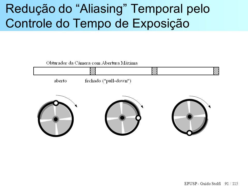 """EPUSP - Guido Stolfi 91 / 115 Redução do """"Aliasing"""" Temporal pelo Controle do Tempo de Exposição"""