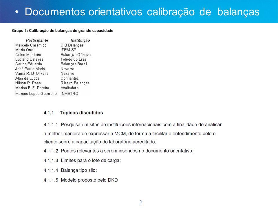 2 • Documentos orientativos calibração de balanças
