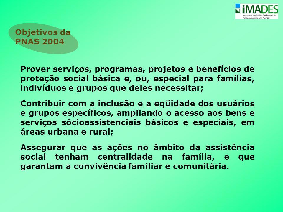 Prover serviços, programas, projetos e benefícios de proteção social básica e, ou, especial para famílias, indivíduos e grupos que deles necessitar; C