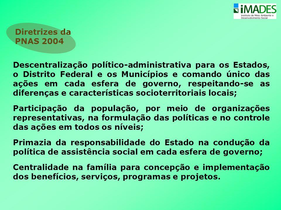 Descentralização político-administrativa para os Estados, o Distrito Federal e os Municípios e comando único das ações em cada esfera de governo, resp