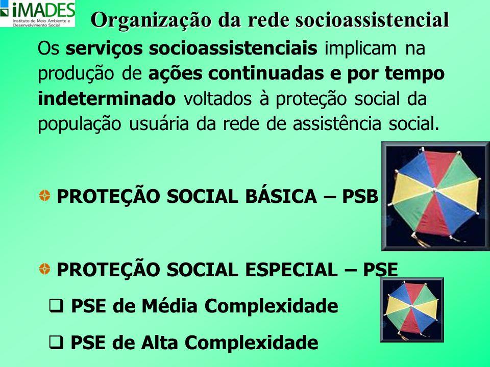 Os serviços socioassistenciais implicam na produção de ações continuadas e por tempo indeterminado voltados à proteção social da população usuária da