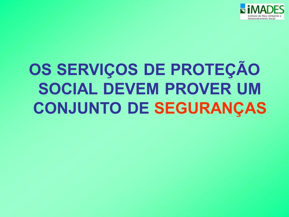OS SERVIÇOS DE PROTEÇÃO SOCIAL DEVEM PROVER UM CONJUNTO DE SEGURANÇAS