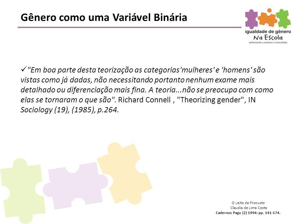 Gênero como uma Variável Binária 