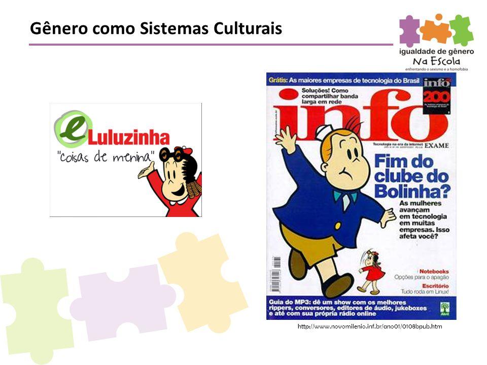 http://www.novomilenio.inf.br/ano01/0108bpub.htm Gênero como Sistemas Culturais