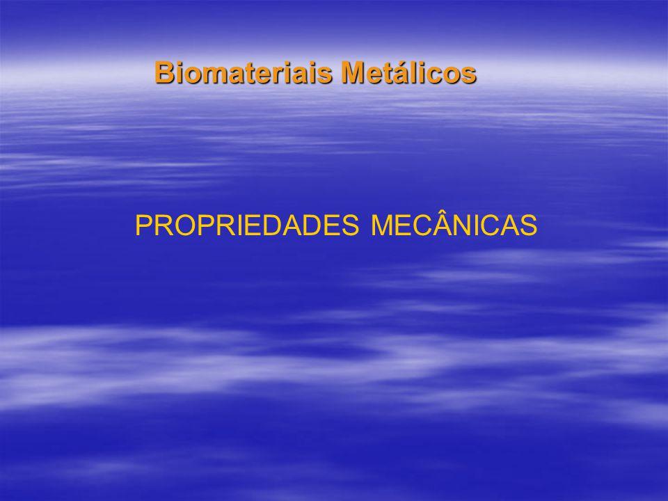 PROPRIEDADES MECÂNICAS Biomateriais Metálicos