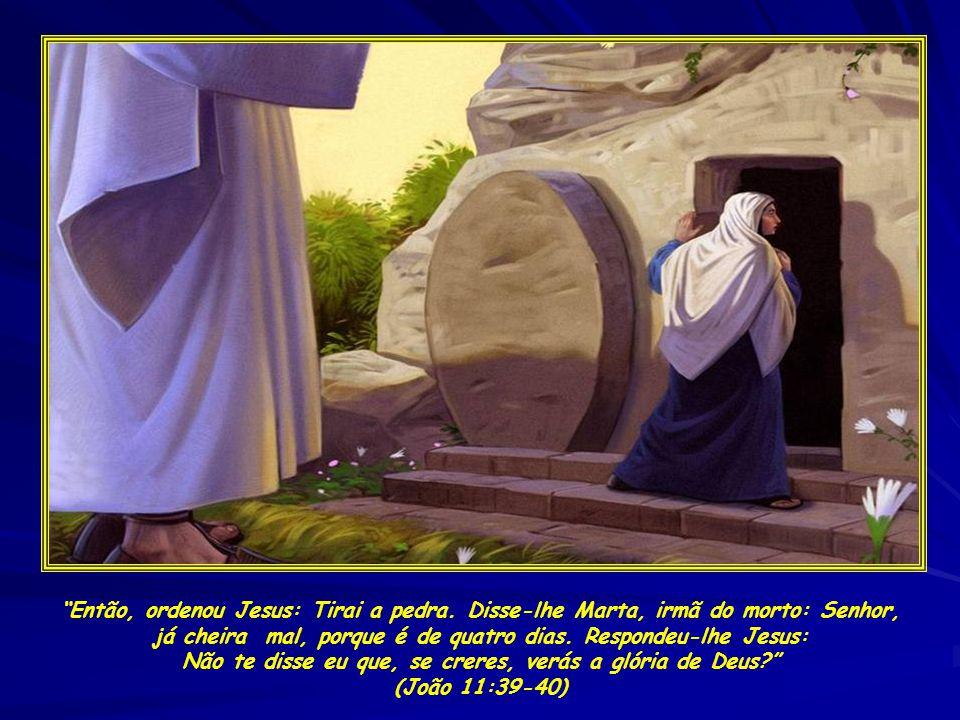 Então, ordenou Jesus: Tirai a pedra.