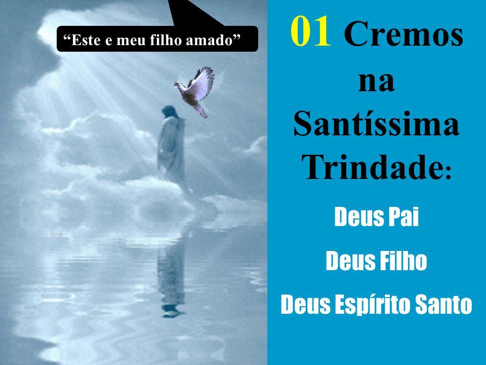 """01 Cremos na Santíssima Trindade : Deus Pai Deus Filho Deus Espírito Santo """"Este e meu filho amado"""""""