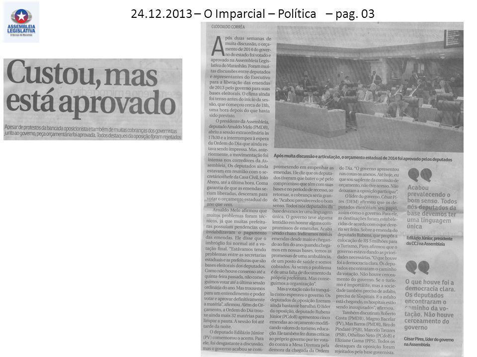 24.12.2013 – O Imparcial – Política – pag. 03
