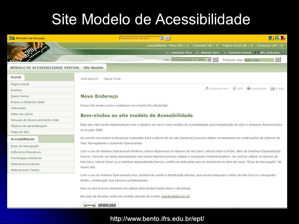 Site Modelo de Acessibilidade http://www.bento.ifrs.edu.br/ept/
