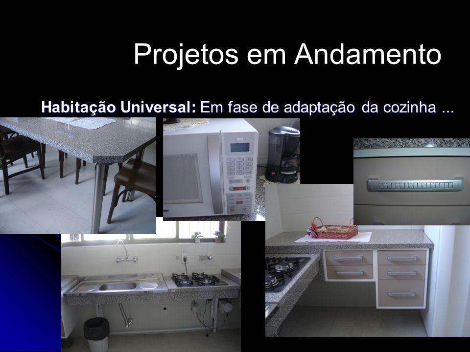 Habitação Universal: Em fase de adaptação da cozinha...