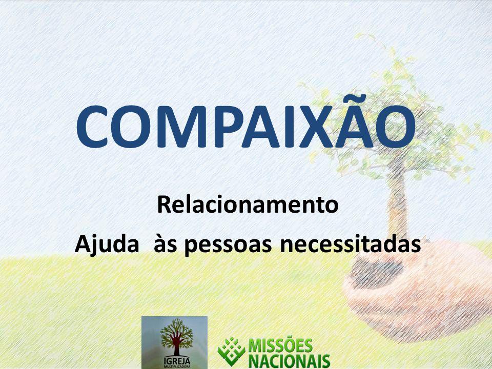 COMPAIXÃO Relacionamento Ajuda às pessoas necessitadas