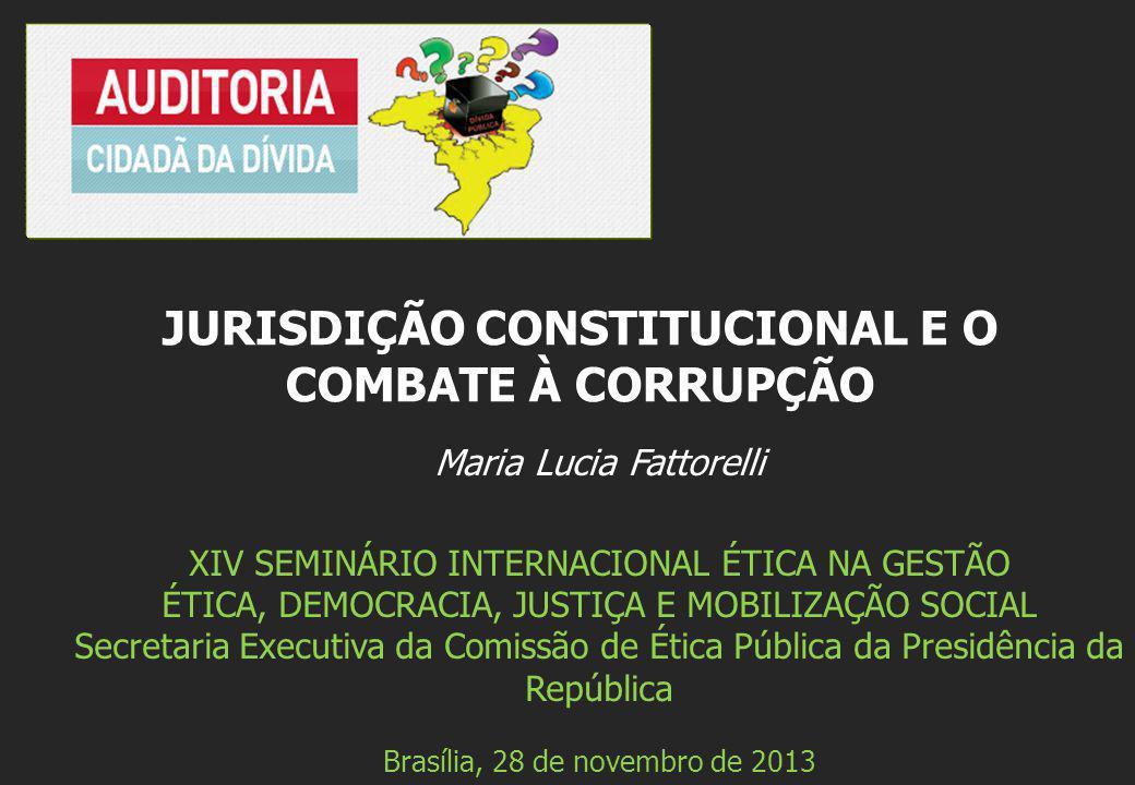 Maria Lucia Fattorelli XIV SEMINÁRIO INTERNACIONAL ÉTICA NA GESTÃO ÉTICA, DEMOCRACIA, JUSTIÇA E MOBILIZAÇÃO SOCIAL Secretaria Executiva da Comissão de