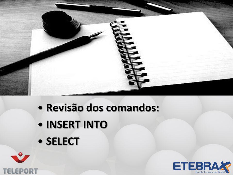 Comando UPDATE •Geralmente o atributo WHERE é feito pelo id da tabela, dessa forma você tem certeza absoluta que não irá atualizar outros registros.