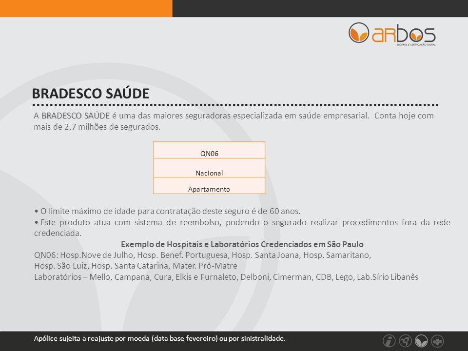 BRADESCO SAÚDE A BRADESCO SAÚDE é uma das maiores seguradoras especializada em saúde empresarial. Conta hoje com mais de 2,7 milhões de segurados. • O