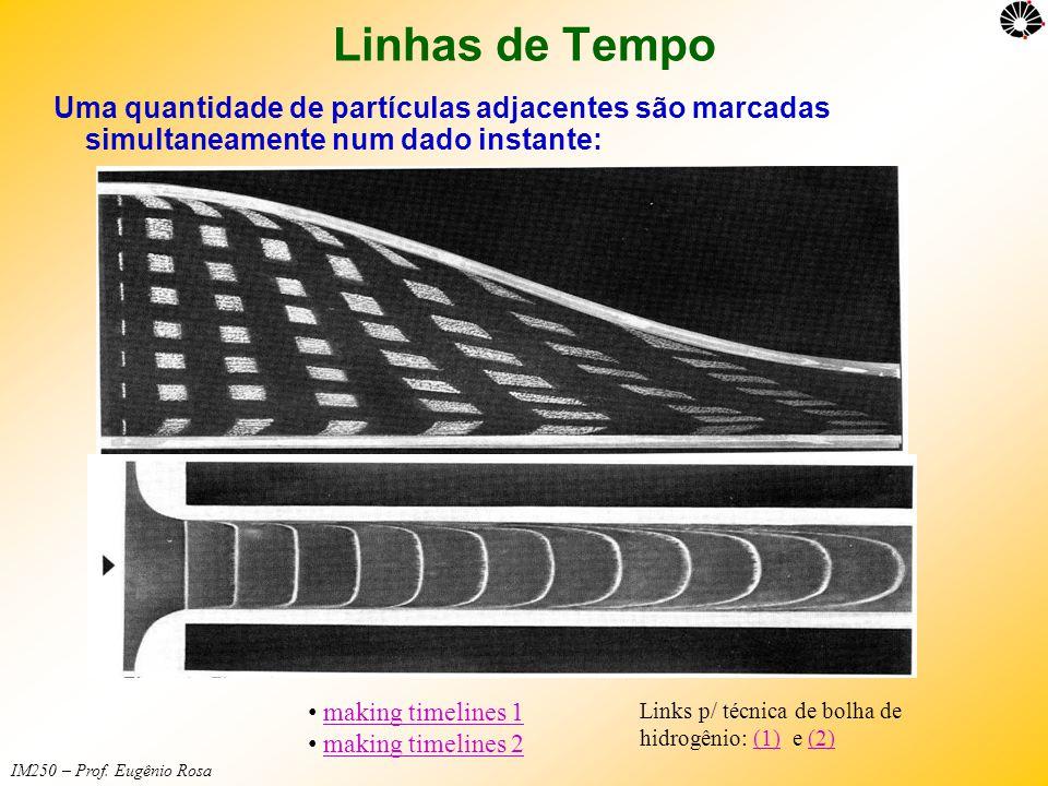 IM250 – Prof. Eugênio Rosa Linhas de Tempo Uma quantidade de partículas adjacentes são marcadas simultaneamente num dado instante: • making timelines