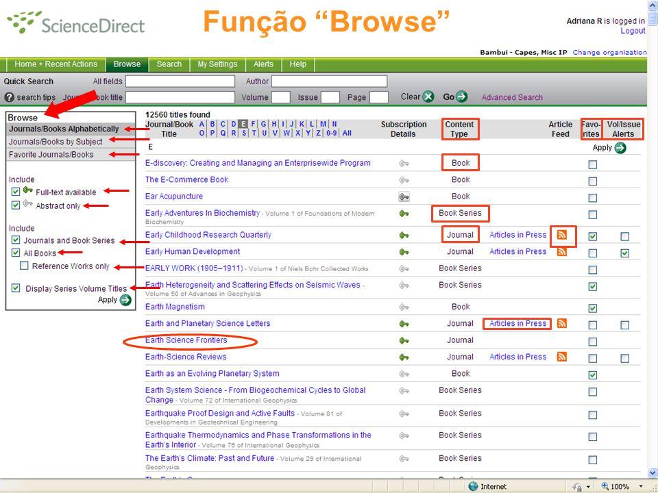 Função Browse