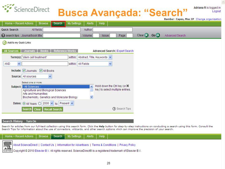 28 Busca Avançada: Search