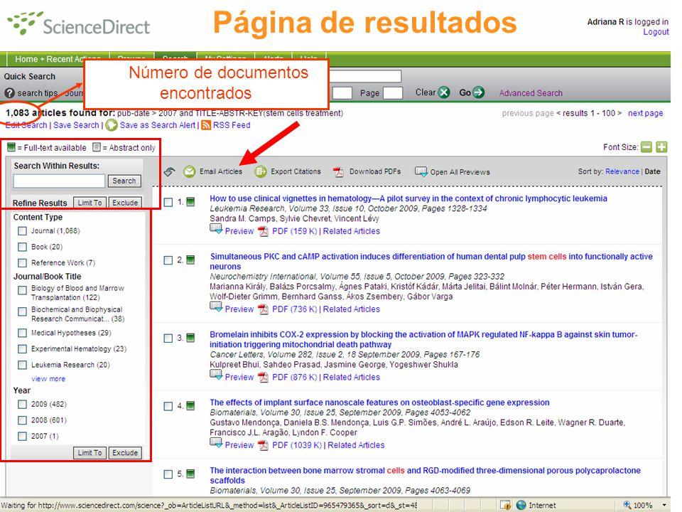 29 Número de documentos encontrados Página de resultados