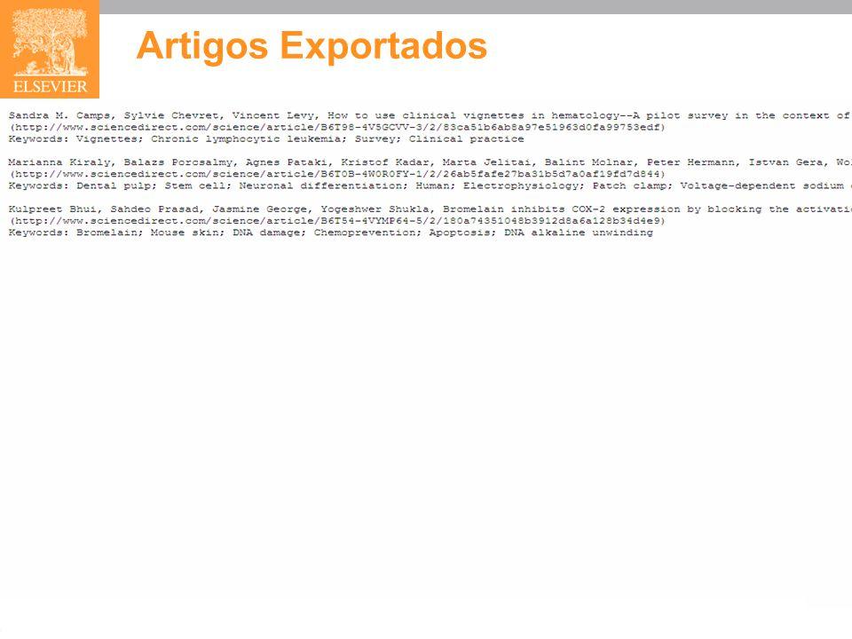 Artigos Exportados